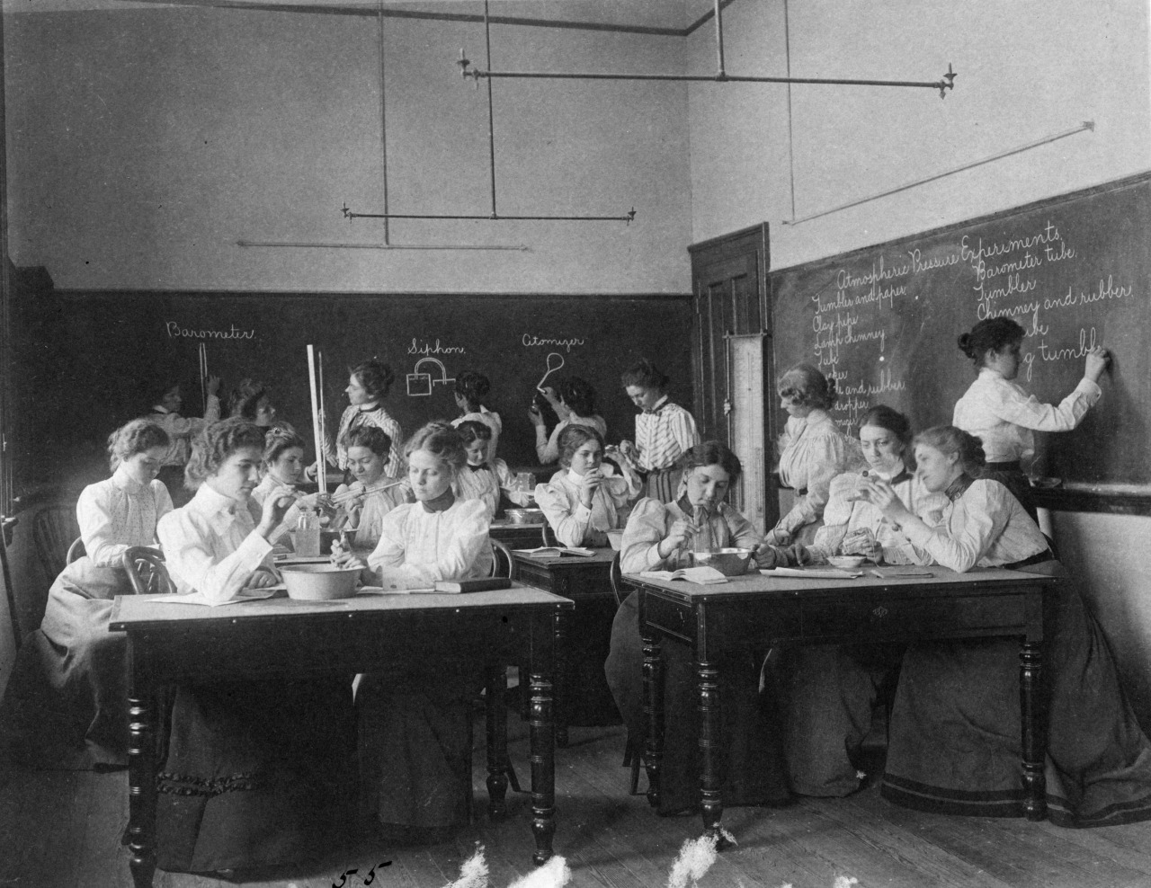 women in chemistry laboratory